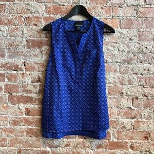 Cynthia Rowley blue pattern sleeveless top.